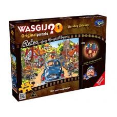 500 pc Wasgij Puzzle Retro Original #1 - Sunday Drivers XL pieces