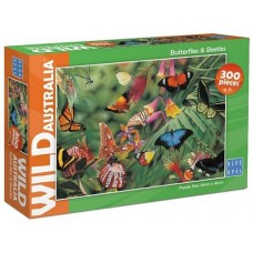 100 pc Blue Opal Puzzle - Wild Australia - Butterflies & Beetles