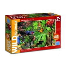 150 pc Blue Opal Puzzle - Wild Australia - Magical Rainforest