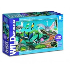 150 pc Blue Opal Puzzle - Wild Australia - Wetlands & Marshes