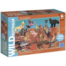 100 pc Blue Opal Puzzle - Wild Australia - The Outback