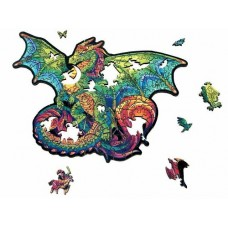 151 pc Wooden Puzzle - Dragon