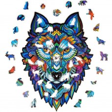 126 pc Wooden Puzzle - Wolf