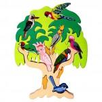 Australian Bird Tree Wooden Puzzle