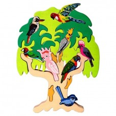 Australian Bird Tree Wooden Puzzle