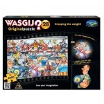 1000 pc Wasgij Puzzle Original #28 Dropping the Weight