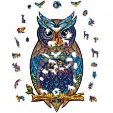 123 pc  Wooden Puzzle - Owl