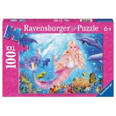 100 pc Ravensburger - Glitter Blissful Mermaids Puzzle XXL Pieces
