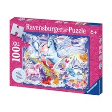 100 pc Ravensburger - Glitter Unicorns Puzzle XXL Pieces