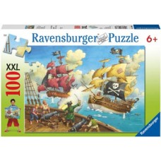 100 pc Ravensburger - Pirate Battle Puzzle XXL Pieces