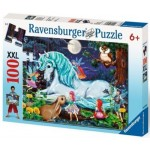 100 pc Ravensburger - Enchanted Forest/Unicorns World Puzzle XXL Pieces