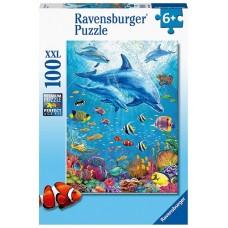 100 pc Ravensburger Puzzle - Pod of Dolphins XXL Pieces