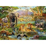 200 pc Ravensburger Puzzle - Animals in the Savannah  XXL Pieces