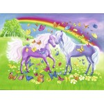 24 pc Ravensburger - Rainbow Horses Puzzle  2x24 pc