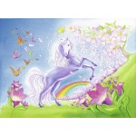 24 pc Ravensburger Puzzle - Rainbow Horses 2x24pc