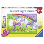 24 pc Ravensburger Puzzle - Rainbow Horses 2x24 pc