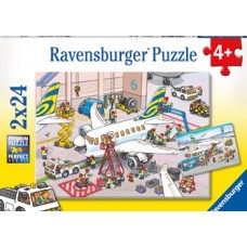 24 pc Ravensburger - Around the Aeroplane Puzzle 2x24pc