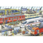 24 pc Ravensburger Puzzle - Busy Train Station 2x24pc