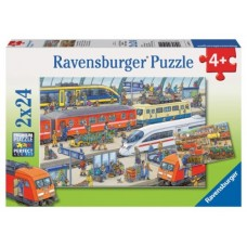24 pc Ravensburger - Busy Train Station 2x24pc