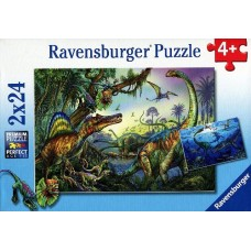 24 pc Ravensburger - Primeval Giants Dinosaur Puzzle 2x24pc