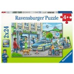 24 pc Ravensburger Puzzle - Police at Work 2x24pc