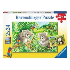 24 pc Ravensburger - Sweet Koalas & Pandas  2x24 pc *