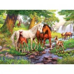 300 pc Ravensburger Puzzle - Horses by the Stream - XXL Pieces