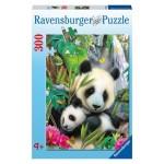 300 pc Ravensburger Puzzle - Cuddling Panda - XXL Pieces