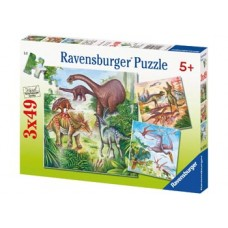 49 pc Ravensburger Puzzle - Fascinating Dinosaurs 3x49 pc