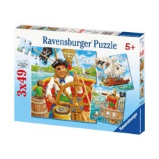 49 pc Ravensburger - Pirates Puzzle 3x49 pc