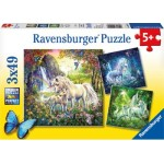 49 pc Ravensburger - Beautiful Unicorns Puzzle 3x49 pc