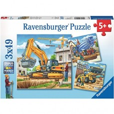 49 pc Ravensburger - Construction Vehicles 3x49 pc