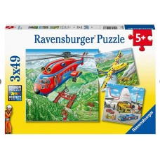 49 pc Ravensburger Puzzle - Above the Clouds 3x49 pc