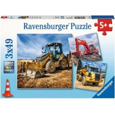 49 pc Ravensburger Puzzle - Diggers at Work 3x49 pc