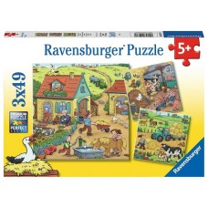 49 pc Ravensburger Puzzle - On the Farm 3x49 pc