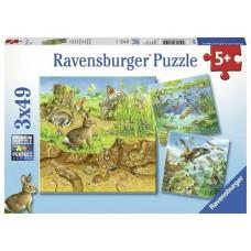 49 pc Ravensburger Puzzle - Animals in Habitats 3x49pc