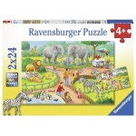 24 pc Ravensburger Puzzle - A Day at the Zoo 2x24 pc