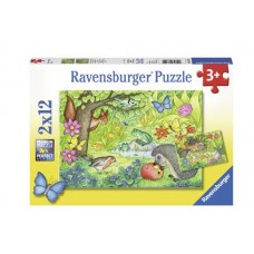 12 pc Ravensburger Puzzle - Animals in the Garden 2x12 pc