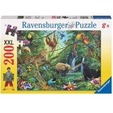 200 pc Ravensburger Puzzle - Animals in the Jungle  XXL Pieces