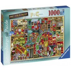 1000 pc Ravensburger Puzzle - Awesome Alphabet F & G - Colin Thompson