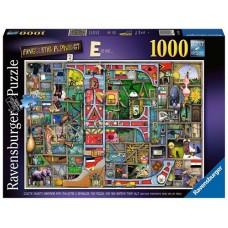 1000 pc Ravensburger Puzzle - Awesome Alphabet E - Colin Thompson