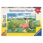 12 pc Ravensburger Puzzle - Baby Farm Animals 2x12 pc