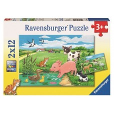 12 pc Ravensburger Puzzle - Baby Farm Animals 2x12 pc