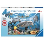 60 pc Ravensburger Puzzle - Caribbean Smile Dolphin