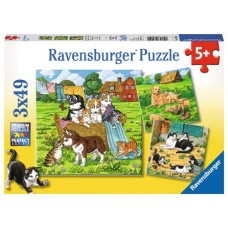 49 pc Ravensburger - Cats & Dogs Puzzle 3x49 pc