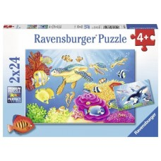 24 pc Ravensburger - Colourful Underwater World Puzzle 2x24pc