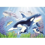 24 pc Ravensburger Puzzle - Colourful Underwater World 2x24pc