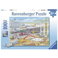 100 pc Ravensburger - Construction Site at the Airport Puzzle XXL Pieces *