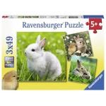 49 pc Ravensburger - Cute Bunnies Puzzle 3x49 pc