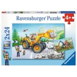 24 pc Ravensburger Puzzle - Diggers at Work 2x24pc